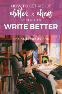 Has your word count sucked lately? Look around. Clutter hurts your writing productivity. Here's some quick tips to get rid of chaos so you can write better.