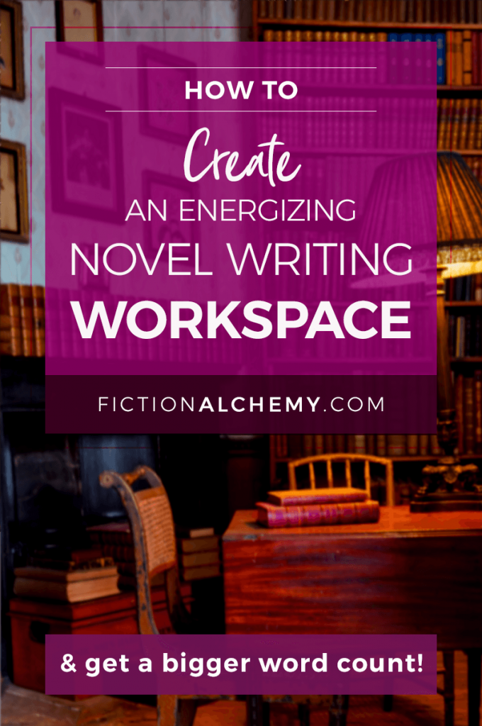 When your writing workspace is a chaotic mess, your word count suffers. Learn how to create an energizing novel writing workspace.