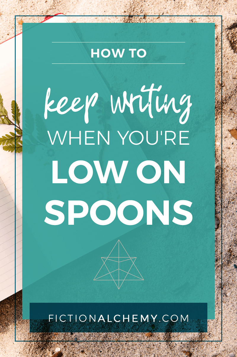 How many spoons did you have left today when you started writing? Here are some shifts that could help you keep writing when you're low on spoons.