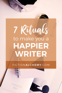 It takes more than just butt-in-chair to write a novel. It takes more than writing to finish your book. Here are 7 rituals you NEED to be a happier writer.