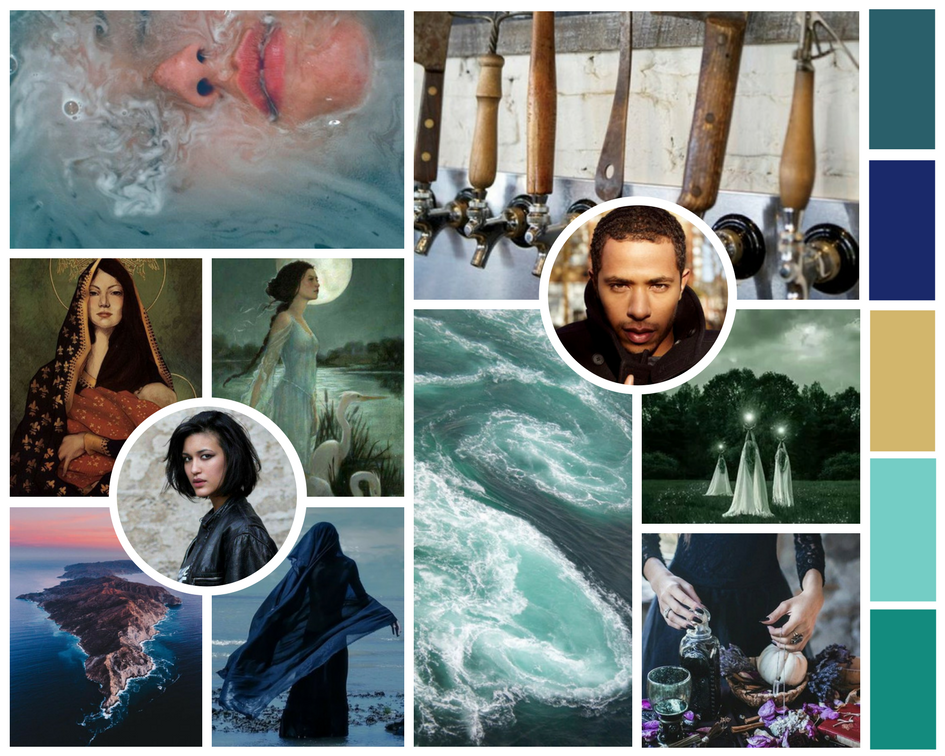 An epic fantasy romance featuring druid priestesses, lost magic, and a secret baby that could save the world. | The Sea at Midwinter Aesthetic | © 2018 Holly Ostara