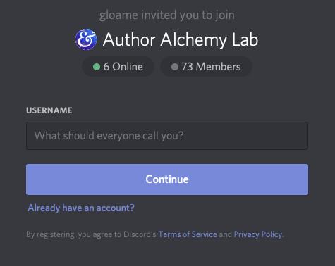 Author Alchemy Lab community invite